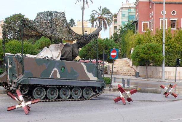 Lebanese Army tank, Beirut