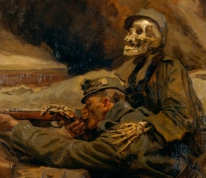 Hans Larwin's amazingly evocative 'Soldat und Tod' ('Soldier and Death') from 1917